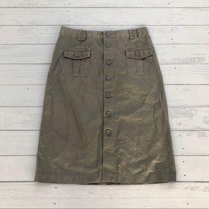 Gap Khakis cargo button-down pocket pencil skirt 4